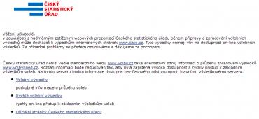 www.czso.cz v době voleb do PS.