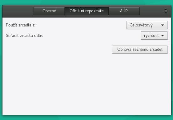 Manjaro: konfigurace správce balíčků
