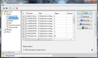 Pomocí PDF Split and Merge rozdělíte nebo spojíte PDF dokumenty