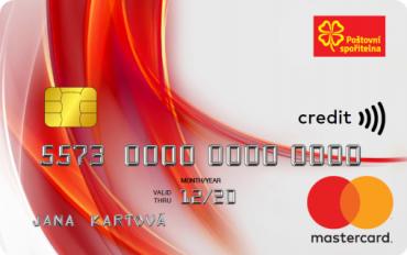 Nový design kreditní karty Poštovní spořitelny.