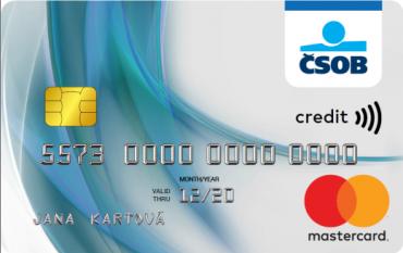 Nový design kreditní karty Československé obchodní banky.