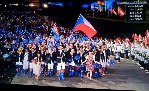 Obrazová kvalita, jak ukazuje obrázek, je u olympijských kanálů více než dostatečná.