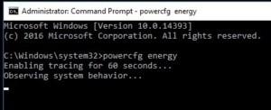 Příkazem powercfg získáte podrobné informace o využívání napájení