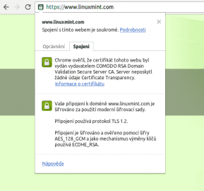 Linux Mint už po incidentu také nasadil HTTPS