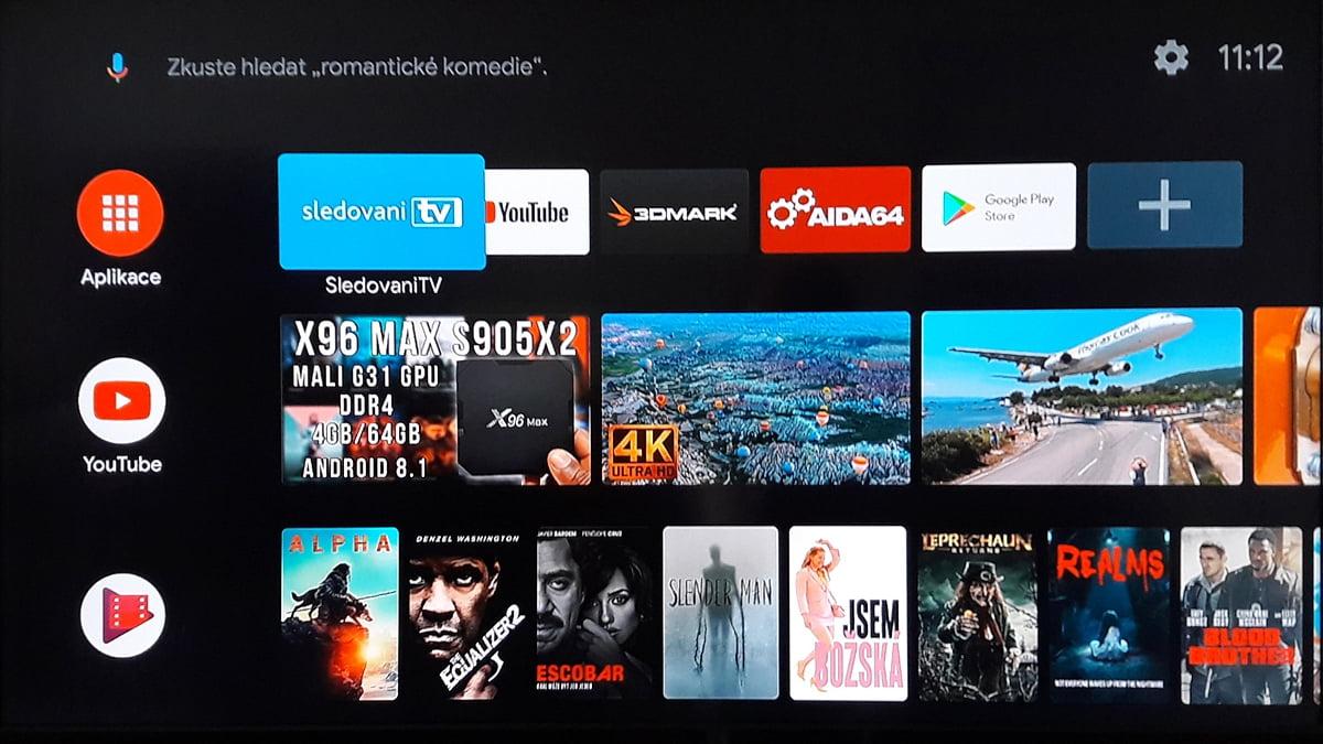 SledováníTV - Hlavní menu a seznam kanálů