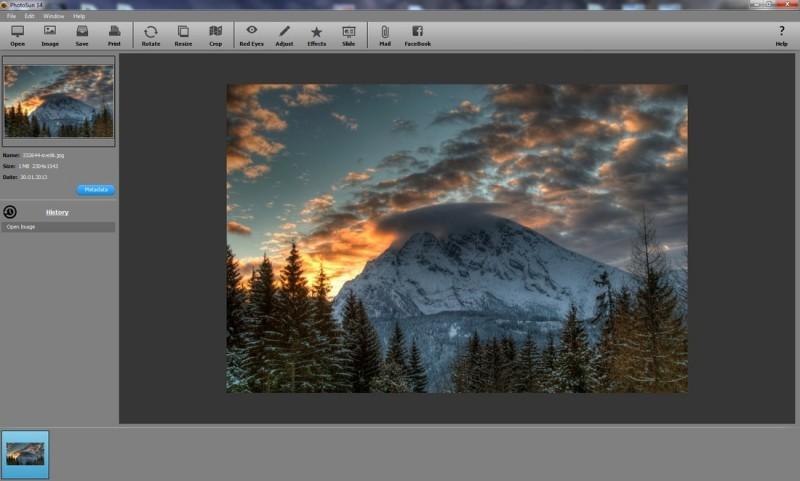 Pomocí PhotoSun upravíte fotografie snadno a rychle