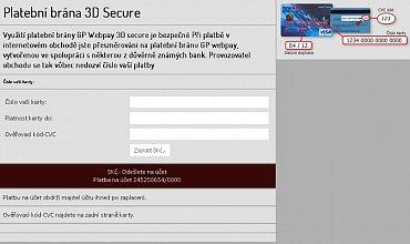 Příklad webové stránky, na které měli uživatelé Facebooku vyplnit údaje o své platební kartě.