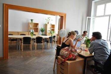 Interiéry coworkingového centra Locus v Krakovské ulici