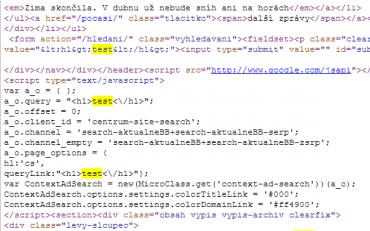 Nové aktuálně.cz stále obsahuje XSS