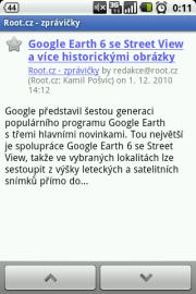 Screenshot Google Reader pro Android 2