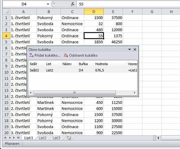 Excel 2010 - kukátko