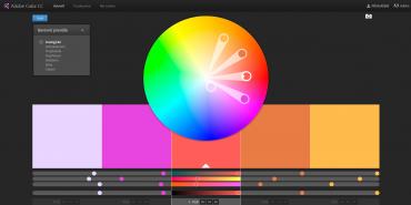 Adobe Color vám umožní vybrat vhodné kombinace barev