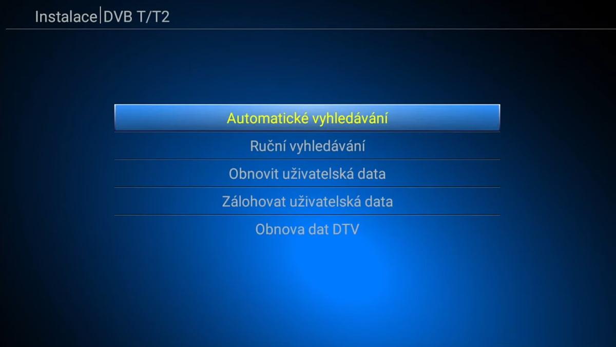Ladění a EPG DVB-T
