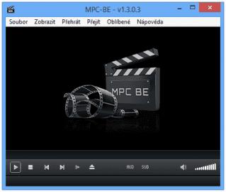 Vzhled aplikace MPC-BE je velmi podobný programu Media Player Classic, ze kterého vychází