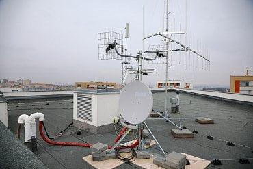 Celkový pohled na instalované antény.