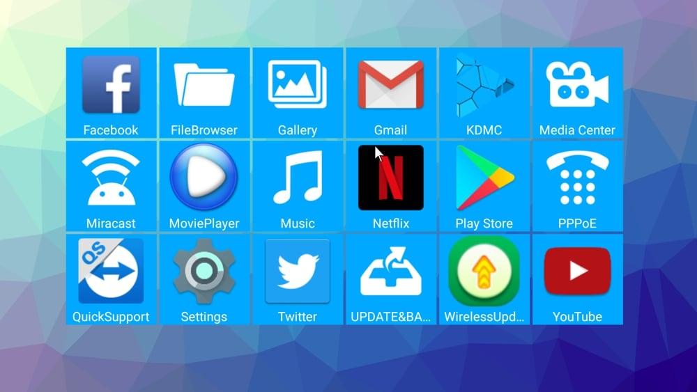 H96 Pro mini - uživatelské prostředí