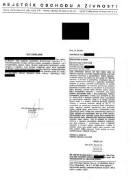 Dopis od Data Information Service ČR s.r.o., IČO 09280529. Firma vznikla 26. 6. 2020(08/2021)