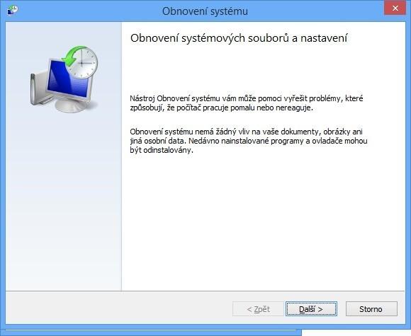 Průvodce obnovením systému Windows