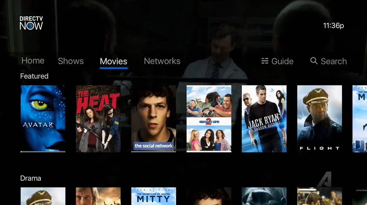 DirecTV - Volby Movies a Networks