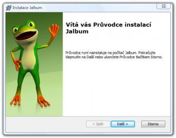 <p>Hned při instalaci vás uvítá hezký žabák</p>