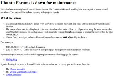 Napadeno Ubuntu fórum