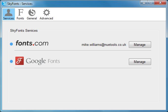 SkyFonts dokáže nainstalovat webové fonty z online databáze do vašeho PC