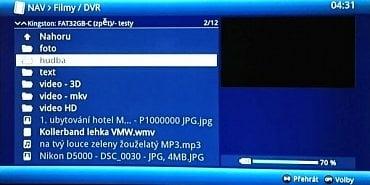 Multimédia - v menu můžete povolit i tradiční souborový náhled.