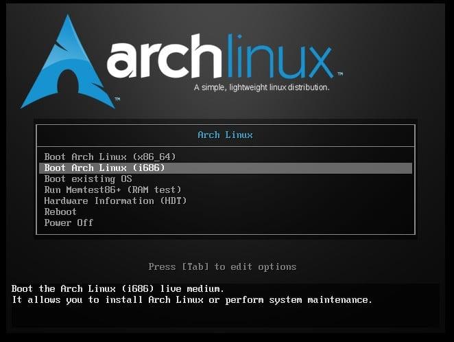 Arch Linux: ArchWiki, příprava instalace