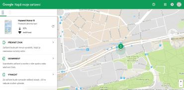 Mobil můžete najít přes internet a prozvonit jej, nebo z něj vymazat všechna data.