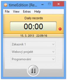 timeEdition umožňuje měřit čas strávený na projektech