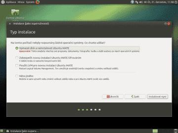 Starý známý instalátor z Ubuntu