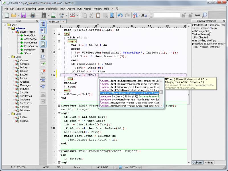 SynWrite je textový editor nabitý funkcemi IDE