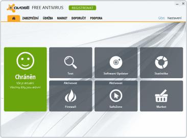 Zbrusu nové rozhraní aplikace avast! Free Antivirus