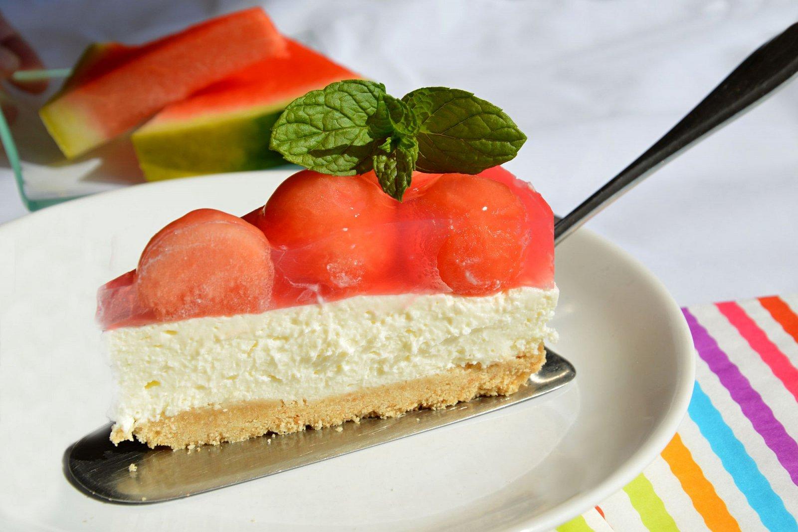 Melounový cheesecake