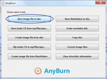 <p>AnyBurn neohromí rozhraním, ale jeho funkce jsou dostačující</p>