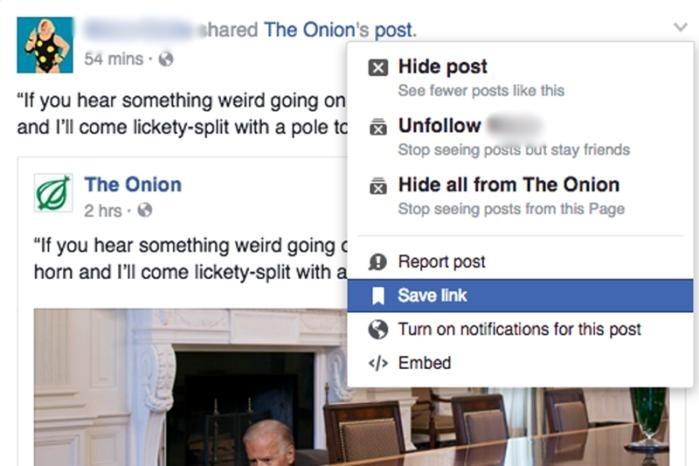 Článek, video i další obsah si můžete pro pozdější přečtení či prohlédnutí uložit i do vlákna Facebooku