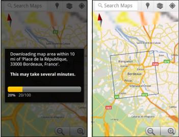 Google Maps v offline