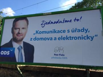 Digitální agenda se zjevila i na billboardech ODS. Budou nyní strany na tuto oblast cílit ve volbách?