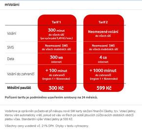 Mobilní tarify mVolání