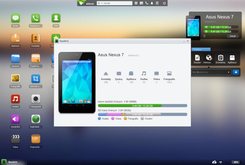 Pomocí Airdroid můžete spravovat Android vzdáleně