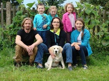 Jarka Pipková s rodinou