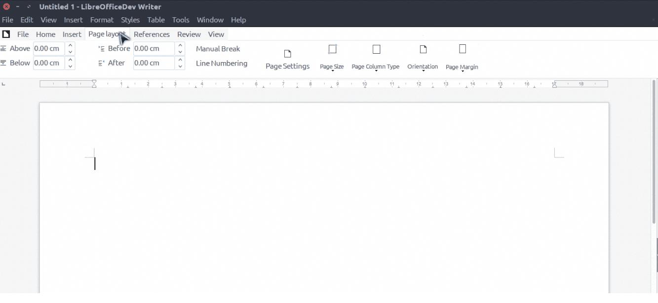 LibreOffice rozhraní Ribbon