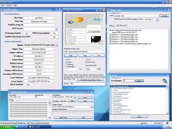 Net Tools je nezbytným pomocníkem každého síťaře