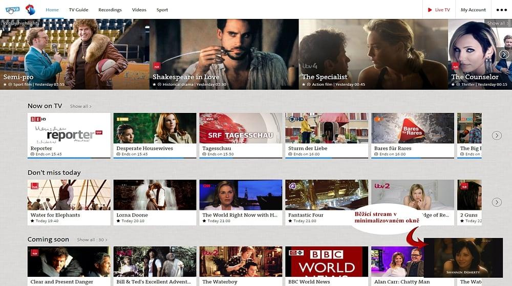 Swisscom TV Air - mikropřehrávač