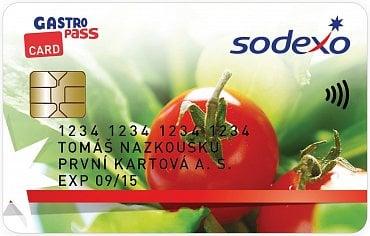 Univerzální design GastroPass CARD. Někteří ale mohou mít individuální design podle svého zaměstnavatele.