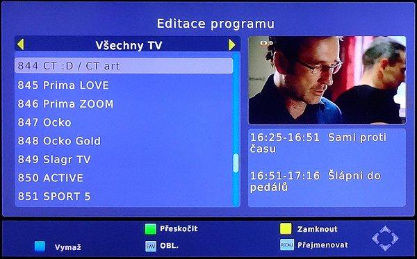 Editace programů