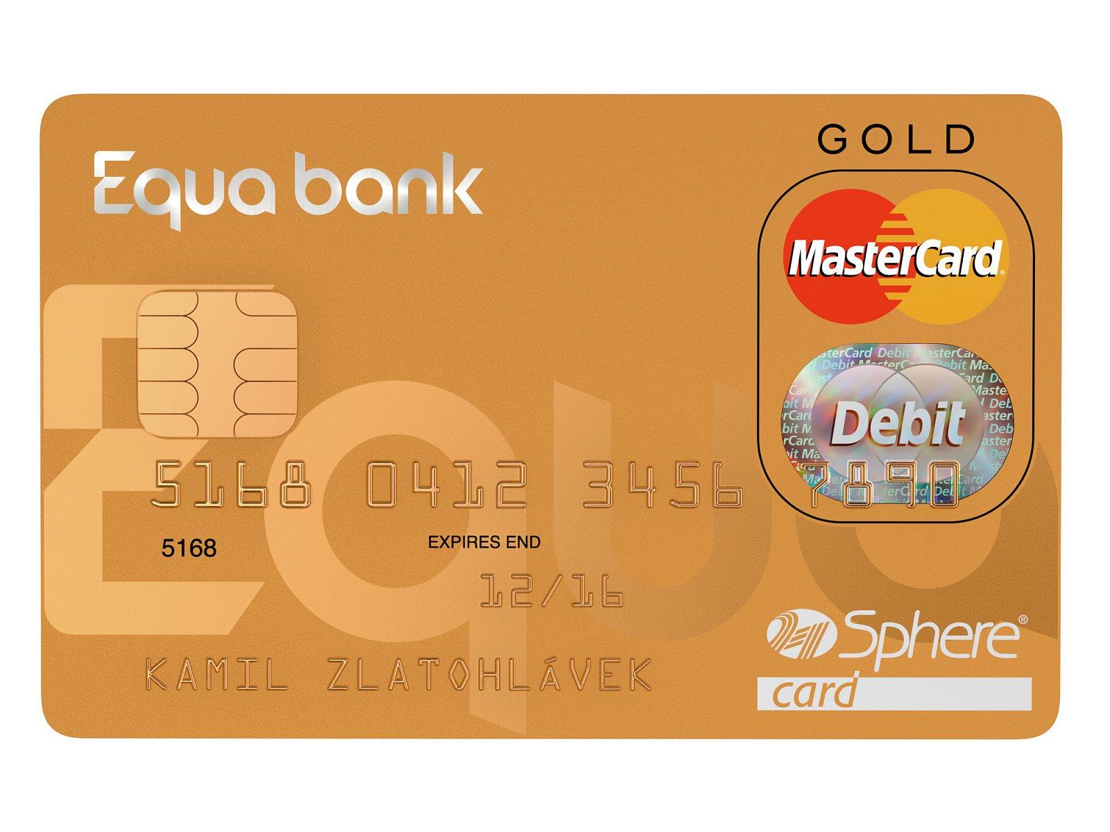 Equa bank zlatá platební karta
