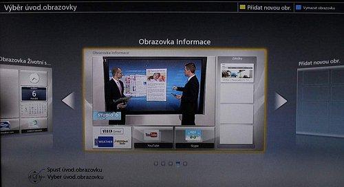 My Home Screen, tedy domovskou obrazovku můžete mít například v tomto stylu, nebo si ji definovat zcela podle svého. Nebo si pochopitelně zvolit i tradiční spuštění televizoru do plného obrazu.