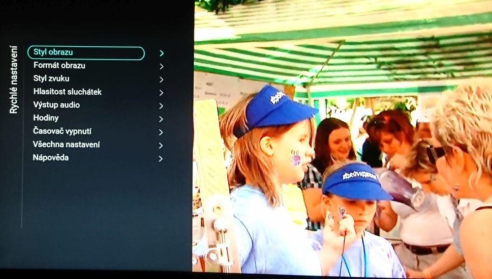 Philips 22PFS4232 - menu nastavení