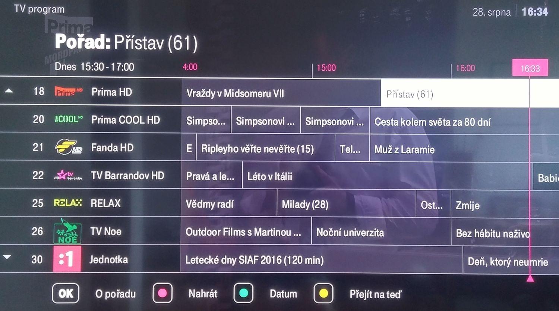 T-Mobile TV - EPG a nahrávání